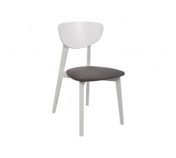 židle  FARIO bílá teplá (TX098)/Mindelo 12 grey