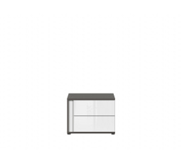 Noční stolek GRAPHIC KOM2SP/C šedý wolfram/bílý lesk