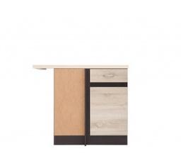 Kuchyňská skříňka rohová Junona Line DNW/100/82L, wenge/dub sonoma