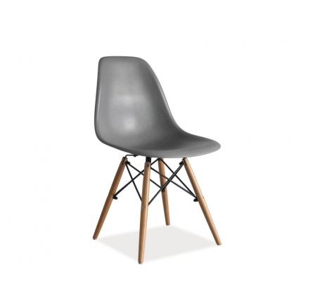 Jídelní židle ENZO, šedá/buk