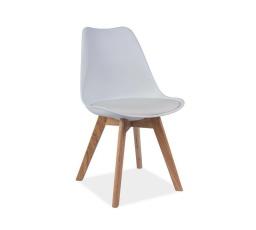 Jídelní židle KRIS bílá, dub