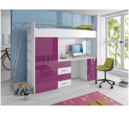 Patrová postel PARADISE 4D-fialová
