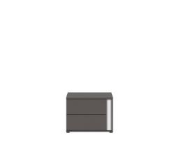 Noční stolek GRAPHIC KOM2SL/C šedý wolfram