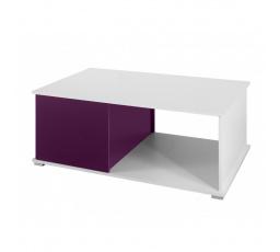 Konferenční stůl GORDIA G / bílá+fialový lesk