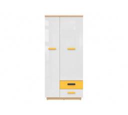 WESKER SZF2D2S dub nagano/bílý lesk/žlutá