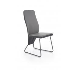 Jídelní židle K300, černá/sv. šedá/šedá