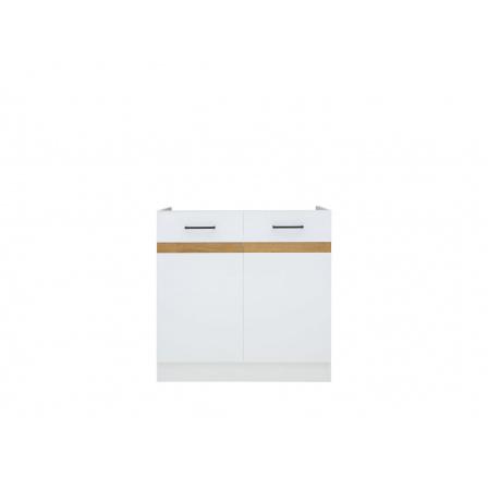 Junona skříňka dřezová DK2D/80/82, bílá/bílý lesk