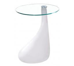 LULA - konferenční stolek-bílá noha/čiré sklo (LULAB) (S) (K150-Z)