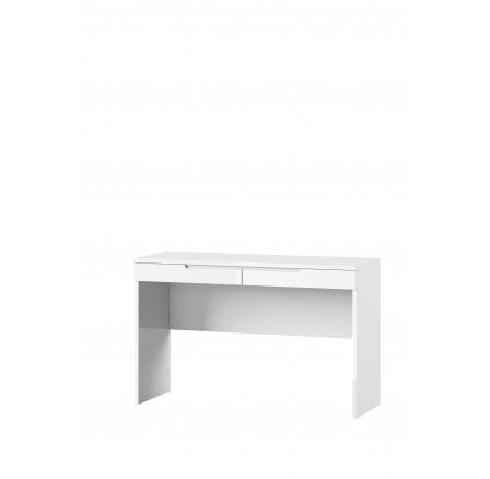 LYON 31 - TOALETNÍ STOLEK se 2šuplíky- bílá mat / bílá lesk (SELENE 31) (SZ) (K150-Z)