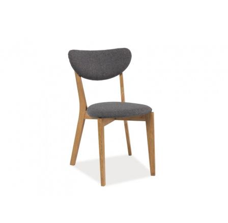 Jídelní židle ANDRE, šedá/dub