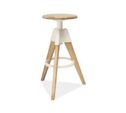 Barová židle BODO bílá / dub bělený