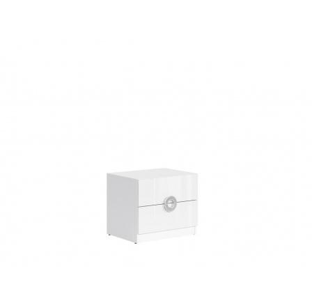 Noční stolek RINGO KOM2S/5/4 bílá alpská/bílý lesk