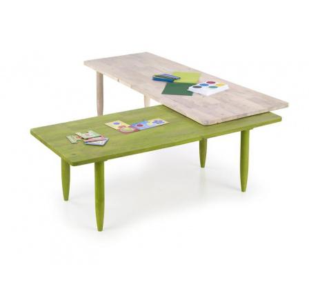 Konferenční stůl BORA-BORA, Bílá/Zelená