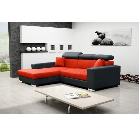 Sedací souprava Mexicana Lux L oranžová/EKO černá