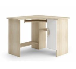 TENUS II - Psací stůl roh / Barva korpusu: Dub Sonoma, Barva dvířek: Bílá