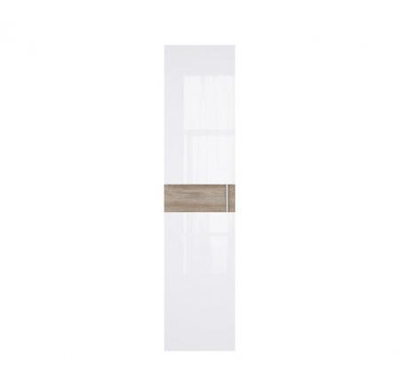 WEKTRA F3 dveře bílý lesk/dub monument (hladký proužek)