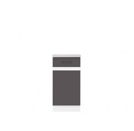 Kuchyně Junona Line, spodní skříňka D1D/40/82 P bílá/šedý wolfram