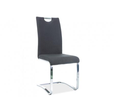 Jídelní židle H-790, potah černá, chrom