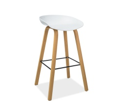 Barová židle STING bílá/dub