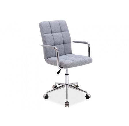 Kancelářské křeslo Q-022 šedá látka