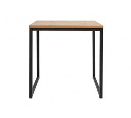 stolek AROZ LAW/50 dub lancelot/černý kovový rám