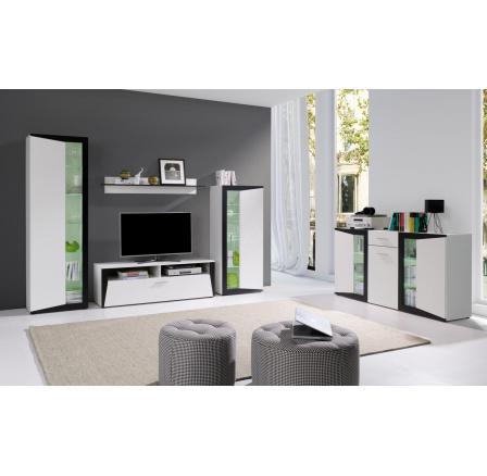 Obývací stěna Piass bílá/černá