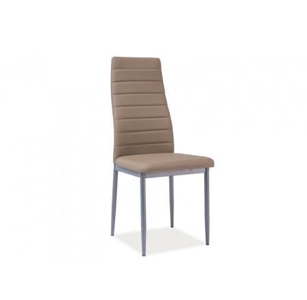 Jídelní židle H-261 BIS, tm. béžová/alu