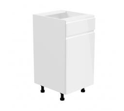 Kuchyňská dolní skřínka - ASPEN D40S1 (P/L), bílý lesk