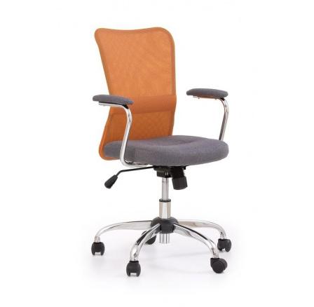 Dětská židle ANDY šedá+oranžová