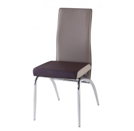 Jídelní židle F-106-2 hnědo/béžová