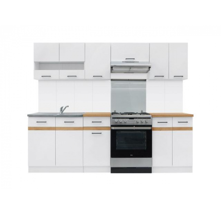 Kuchyň Junona Modul 240, bílá/bílý lesk