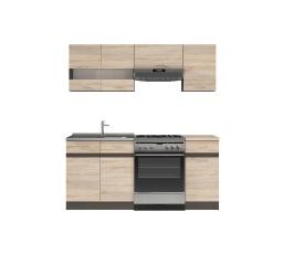 Kuchyň Junona Modul 180, wenge/dub sonoma - SUPERAKCE