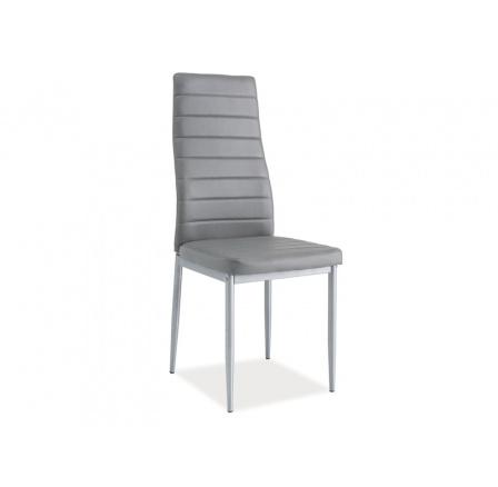 Jídelní židle H-261 BIS, šedá/alu