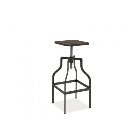 Barová židle IDALA Ořech/Grafit