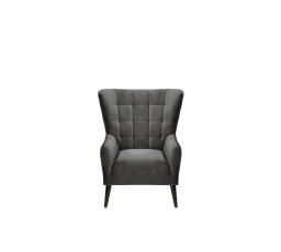 CASEY ES - křeslo, Riviera 95 grey, dřevo TX023 wenge (BRW COMFORT) (FL10-K1230)