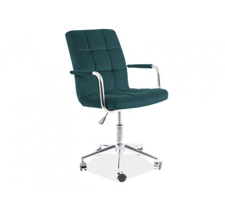 Kancelářské křeslo Q-022 VELVET - Zelená  Bluevel 78