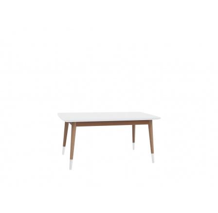 stolek LAWA 021 (TXL021)  bílá/buk přírodní (TX057/TX002)