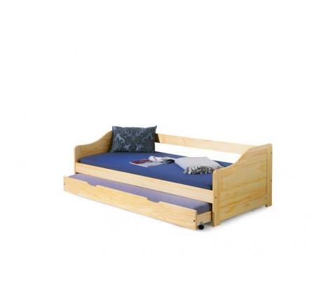 Dětská postel LAURA Borovice, 200x90 cm