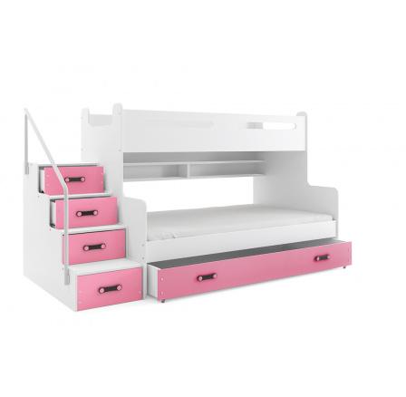 Patrová postel MAX3 - růžová