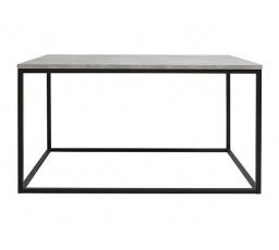 stolek AROZ LAW/100 beton chicago světle šedý/černý kovový rám