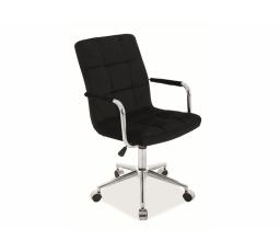 Kancelářské křeslo Q-022 VELVET - Černá  Bluevel 19