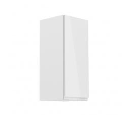 Kuchyňská horní skřínka - ASPEN G30 (P/L), bílý lesk