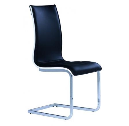 Jídelní židle H-133 černá/bílá
