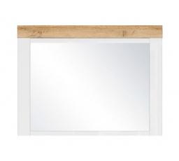 HOLTEN LUS (zrcadlo) bílá/dub woltan/bílý lesk