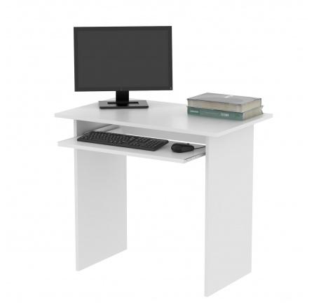 TWISTER -počítačový stůl (TWIST) - bílá  (MD) (K150)