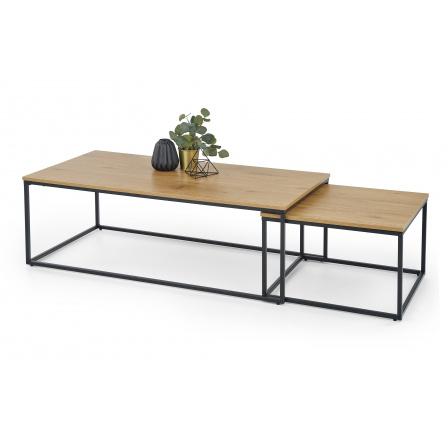 Konferenční stůl ALASKA Dub zlatý/Černá