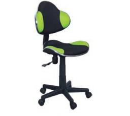 Dětská židle Q-G2 černá/zelená