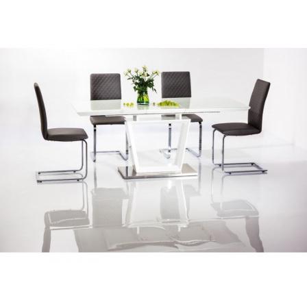 Jídelní stůl LAUREN 140, bílý