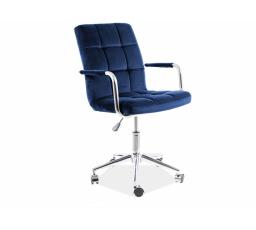 Kancelářské křeslo Q-022 VELVET - Modrá  Bluevel 86