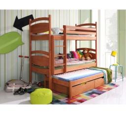 Dětská patrová postel z masivu CÉSAR
